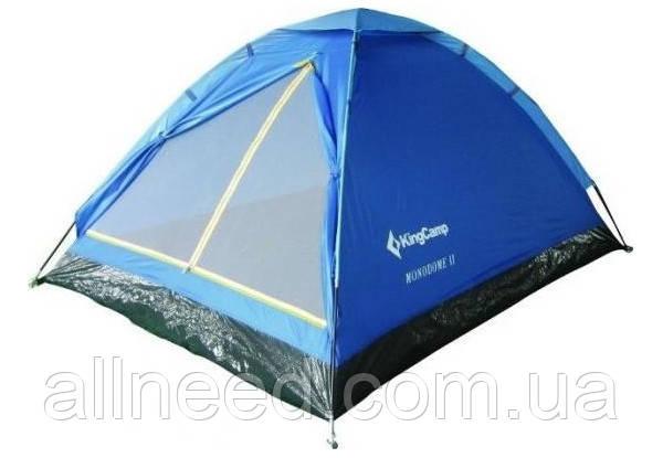 Палатка трехместная KingCamp Monodome 3(KT3010) (blue)