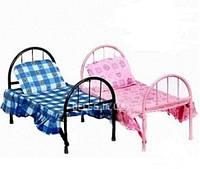 Классическая кукольная железная кроватка 9342 /2772 , кровать для кукол