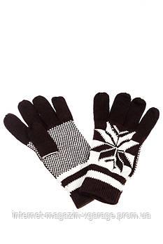Перчатки 254V004-2 цвет Коричнево-белый