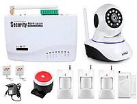 Охранная сигнализация для дома офиса GSM Kerui G10-A kit 2  + WI-Fi IP камера