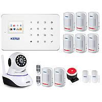 Комплект сигнализации GSM KERUI G18 + WI-FI ІР камера mega max