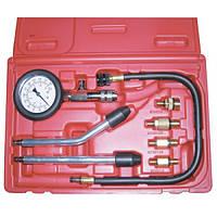 Компрессометр бензиновый, набор с гибкой, 2-мя жесткими насадками и переходниками LICOTA (ATP-2075)