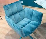 Кресло поворотное CHARDONNE (Шардоне) велюр бирюзовый Nicolas (бесплатная адресная доставка), фото 3