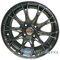 Литые диски Sportmax Racing SR-D2810 6.5x15 4x100 ET38 DIA67.1 Hyper black (Насыщенный черный, иногда - блестящий темно-серебристый)