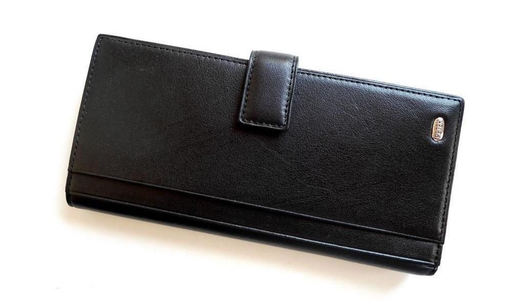 Кошелек мужской кожаный черный Petek 1754