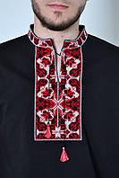 Праздничная мужская вышиванка с коротким рукавом в украинском стиле