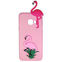 Чехол Cartoon 3D Case для Samsung A520 Galaxy A5 2017 Фламинго