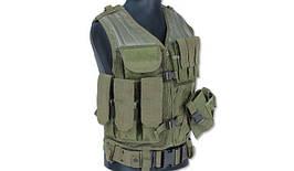 Mil-Tec - Tactical Vest - USMC - Green OD - 10720001 (для страйкбола)