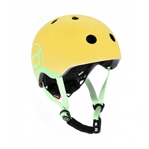 Scoot and Ride Детский защитный шлем лимонный lemon Kinder Fahrradhelm  (S-M)