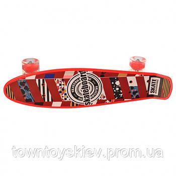 Скейт MS 0749-1 (Красный)