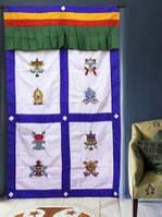 9040387 Занавеска дверная Тибетская с вышивкой №3