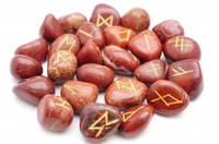 9170006 Набор РУН для гадания из натуральных камней Красная Яшма