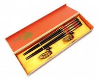 9220000 Палочки для еды 2 пары + 2 подставки в подарочной коробке №1