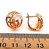 Серьги Xuping из медицинского золота, позолота 18К, 23772       (1), фото 2