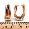 Серьги Xuping из медицинского золота, в позолоте 18К + родий, 23821       (1), фото 2