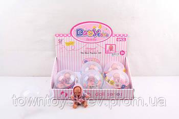 Маленькая кукла-пупс 9909-3 в колбе
