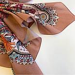 Цветущее лето 1839-4, павлопосадский платок хлопковый (батистовый) с швом зиг-заг, фото 4
