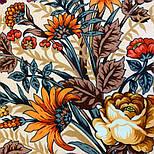 Цветущее лето 1839-4, павлопосадский платок хлопковый (батистовый) с швом зиг-заг, фото 6