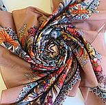Цветущее лето 1839-4, павлопосадский платок хлопковый (батистовый) с швом зиг-заг, фото 8