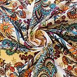 Цветущее лето 1839-4, павлопосадский платок хлопковый (батистовый) с швом зиг-заг, фото 9