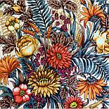 Цветущее лето 1839-4, павлопосадский платок хлопковый (батистовый) с швом зиг-заг, фото 2