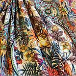Цветущее лето 1839-4, павлопосадский платок хлопковый (батистовый) с швом зиг-заг, фото 5