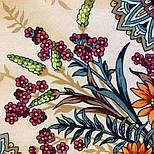 Цветущее лето 1839-4, павлопосадский платок хлопковый (батистовый) с швом зиг-заг, фото 7
