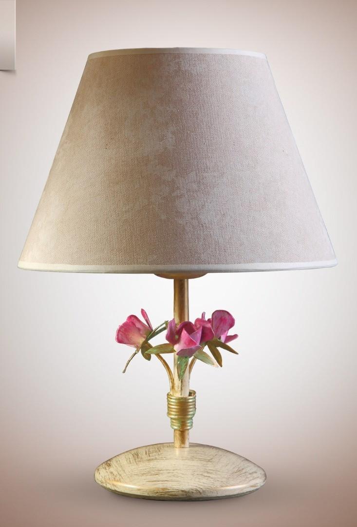 Настольная лампа с абажуром в стиле прованс 6400