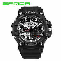 Наручные часы Sanda 759 All Black Оригинальные часы с годовой гарантией на механизм