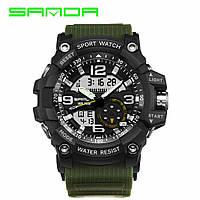 Наручные часы Sanda 759 Green-Black Оригинальные часы с годовой гарантией на механизм