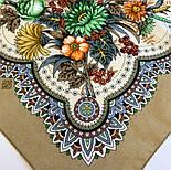 Цветущее лето 1839-2, павлопосадский платок хлопковый (батистовый) с швом зиг-заг, фото 8
