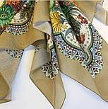 Цветущее лето 1839-2, павлопосадский платок хлопковый (батистовый) с швом зиг-заг, фото 9