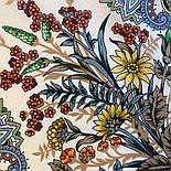 Цветущее лето 1839-2, павлопосадский платок хлопковый (батистовый) с швом зиг-заг, фото 7