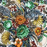 Цветущее лето 1839-2, павлопосадский платок хлопковый (батистовый) с швом зиг-заг, фото 5