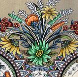 Цветущее лето 1839-2, павлопосадский платок хлопковый (батистовый) с швом зиг-заг, фото 4