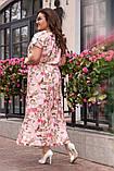 Нарядное женское легкое платье,размеры:52,54,56,58., фото 4