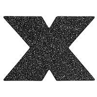 Украшение пэстисы на соски X Bijoux Indiscrets - Flash Cross Black Черные. Наклейки на соски, стикини и пэстисы