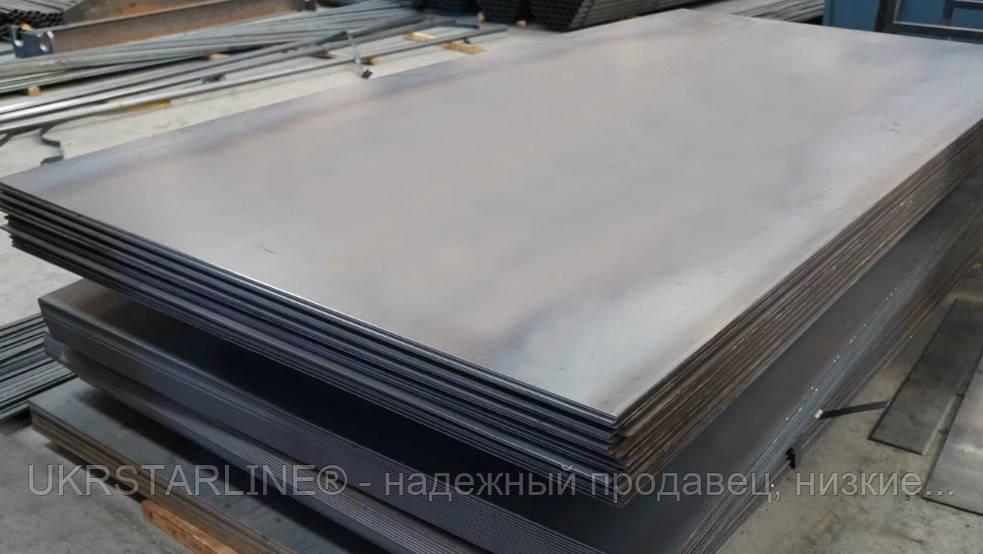 Лист гладкий стальной, 09Г2С, 25,0 мм