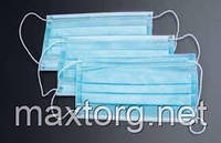 Защитная трёхслойная  маска  для лица, ОПТ ОТ 100 ШТУК
