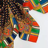Восточная кайма 1898-18, 89x89, павлопосадский платок шерстяной с оверлоком, фото 4