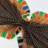 Восточная кайма 1898-18, 89x89, павлопосадский платок шерстяной с оверлоком, фото 5
