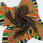 Восточная кайма 1898-18, 89x89, павлопосадский платок шерстяной с оверлоком, фото 8