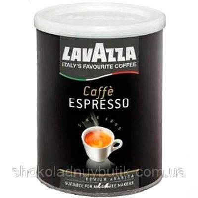 Итальянский молотый кофе арабика Lavazza Espresso ж/б 250г
