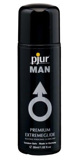 Лубрикант на силиконовой основе pjur MAN Premium Extremeglide 30 мл премиум экономный и для презервативов (Пьюр, Пджюр). Анальные смазки