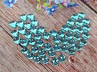 """Клеевой декор """"Капелька росы"""", d 8 мм, цвет голубой, 25 шт"""