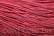 Резинка шляпная, круглая 2,5мм 50м красный + белый
