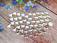 """Клеевой декор """"Капелька росы"""", d 10 мм, цвет белый (прозрачный), 25 шт"""