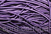 Резинка шляпная, круглая 2,5мм 50м фиолет + белый