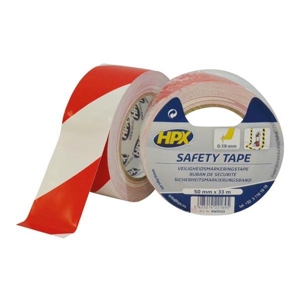 Safety Tape - самоклеющаяся лента безопасности НРХ для вертикальной разметки - бело-красная