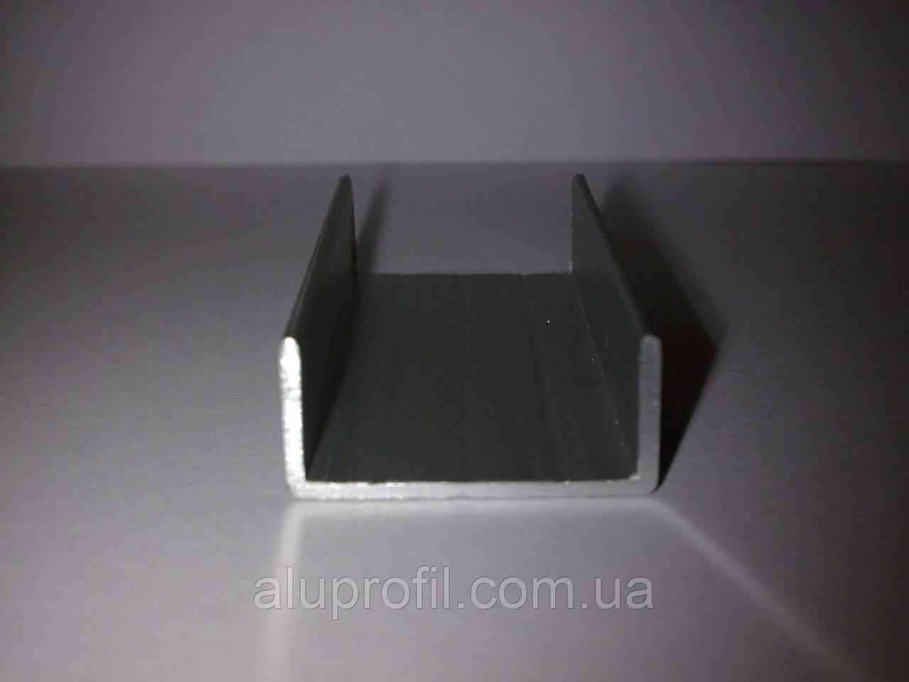 Алюминиевый профиль — п-образный алюминиевый профиль (швеллер) 31х13x1,5 AS